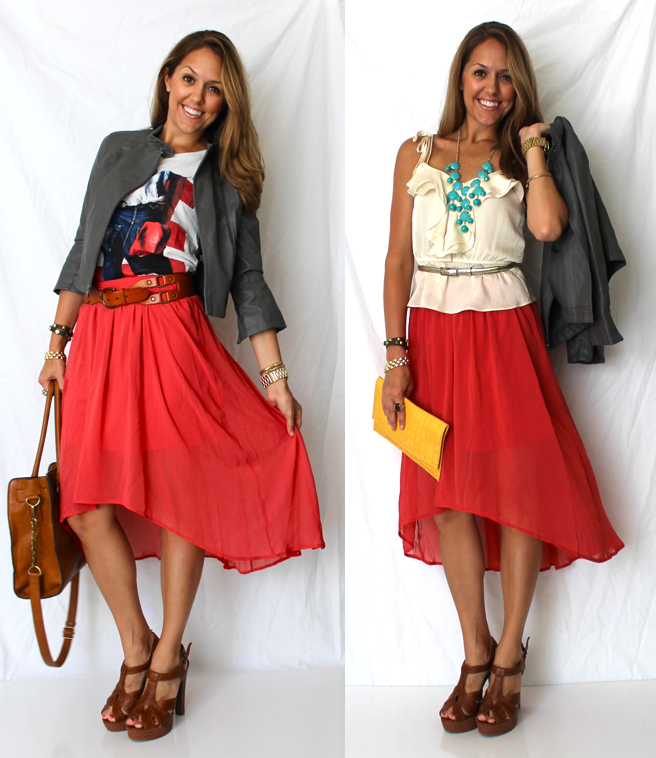 Hi-low skirt trend from J's Everyday Fashion!