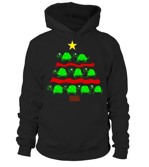 Divertimento Tartaruga Albero Di Natale Ar T-shirt BudAxUe2
