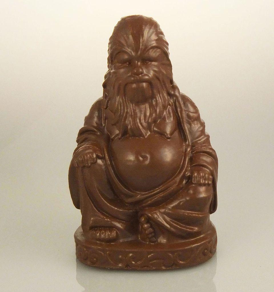Chewbacca Buddha statue