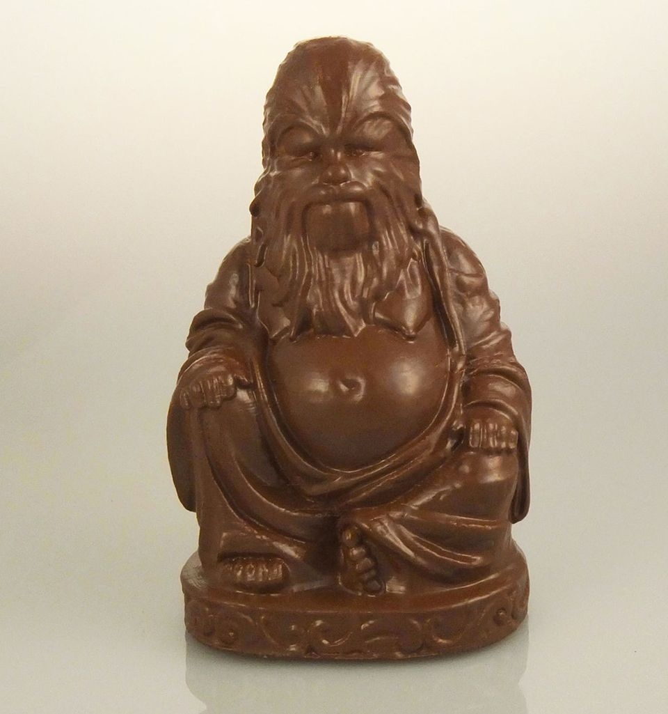 Chewbacca buddha statue star wars pinterest star wars