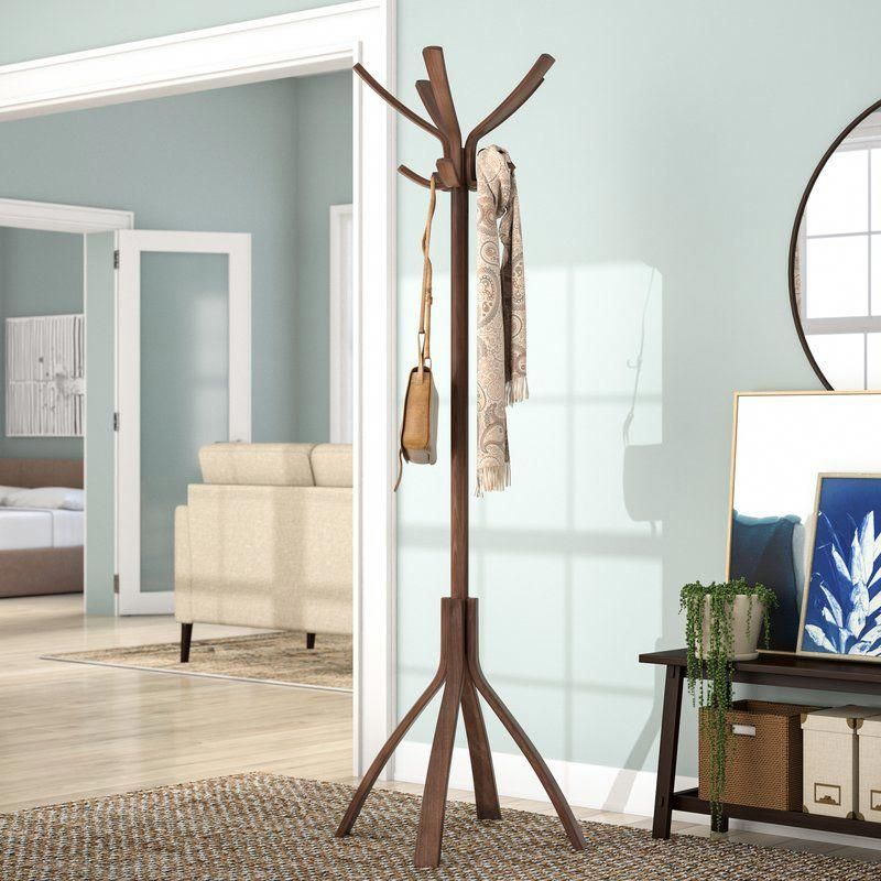 Coat Stand With 10 Pegs Coatrackcorner With Images Coat Stands Modern Furniture Living Room Coat Rack