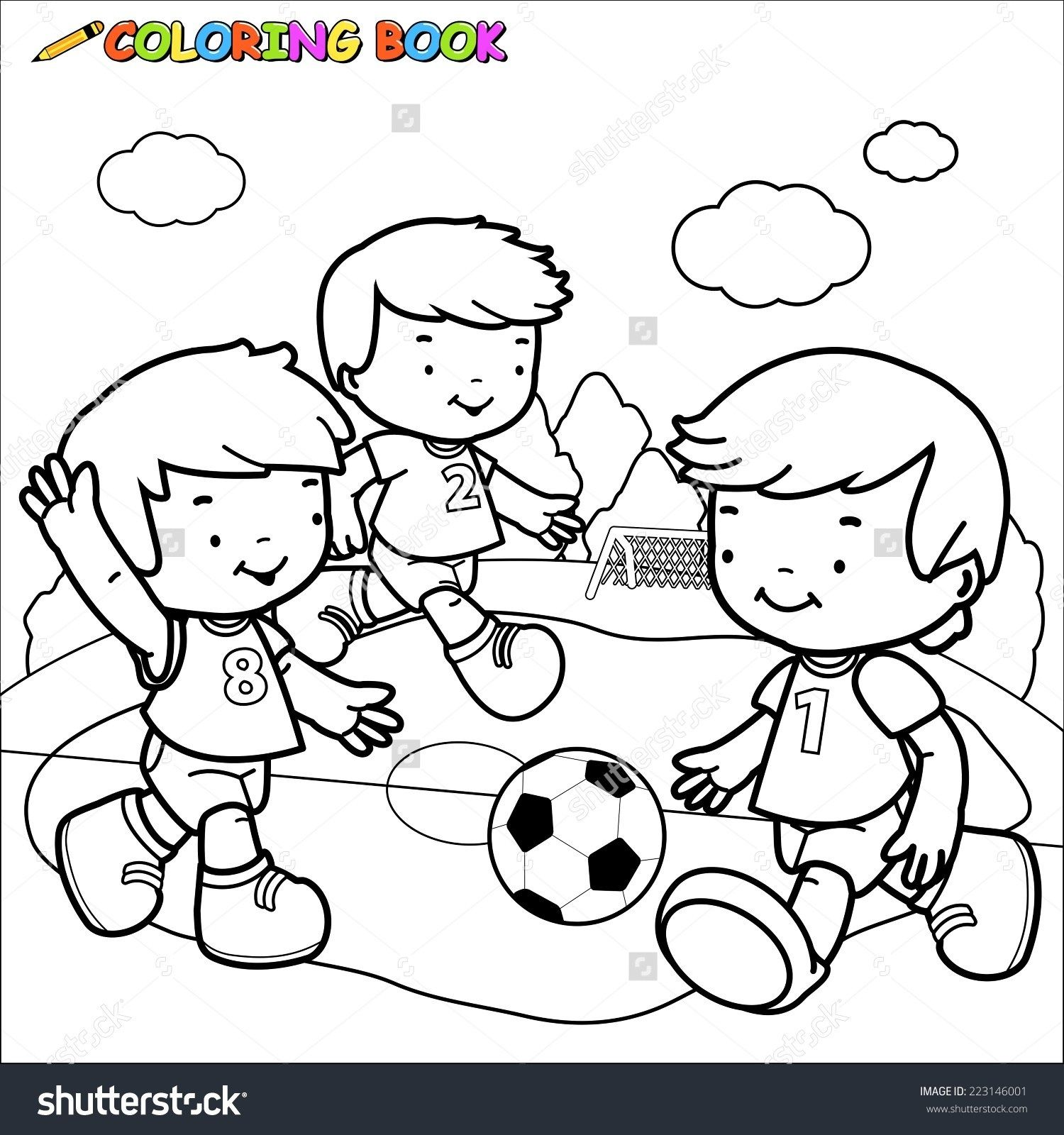Children Play Park Clipart Black And White Clrg In Children Playing In The Park Clipart Black And Cartoon Coloring Pages Coloring Books Hello Kitty Coloring