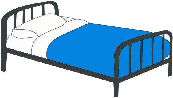 single Bed blue