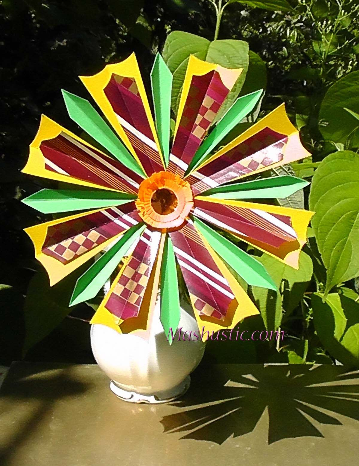 How To Make A Paper Flower Mashustic Com Crafts And Fun Stuff