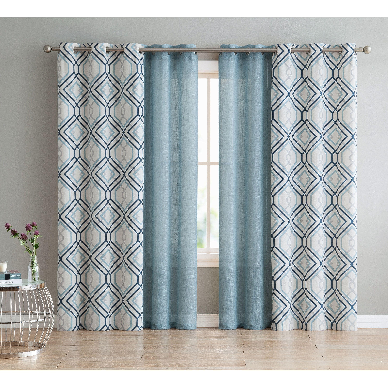 Vcny Home Jackston 4 Piece Curtain Panel Set Panel Curtains