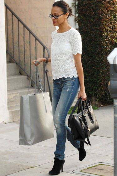 From dark wash to cut-off, see the denim trends worn by Hollywood's finest.