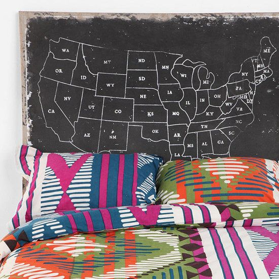 Home of the Brave: US Map-Inspired Decor   Home, Bedrooms and ...