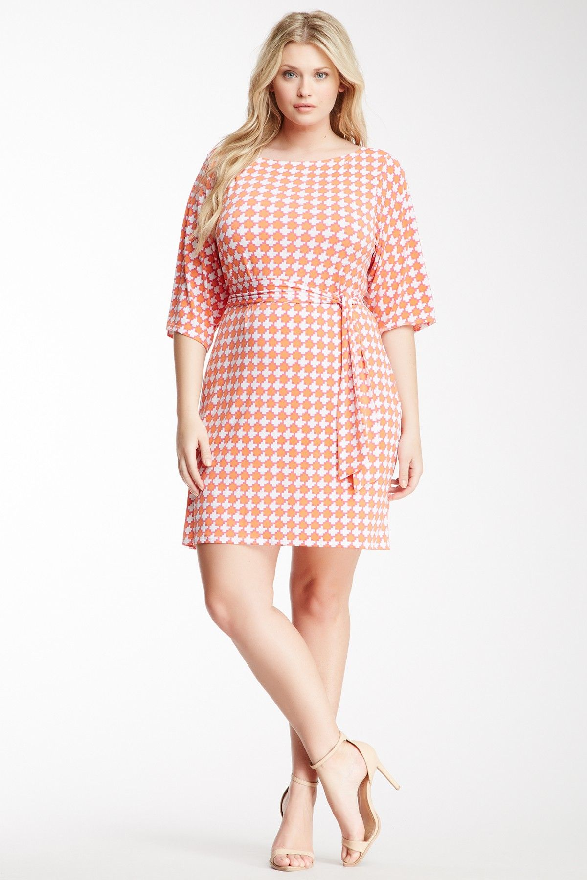 Printed Sheath Dress - Plus Size | Moda vestidos, Costura y Ropa