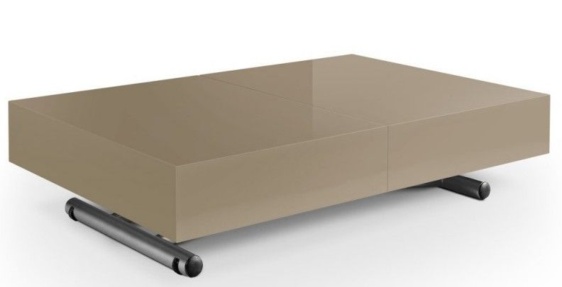 Table Basse Laquee Taupe Relevable Casy Lestendances Fr En 2020 Table Basse Laquee Table Basse Table Basse Moderne