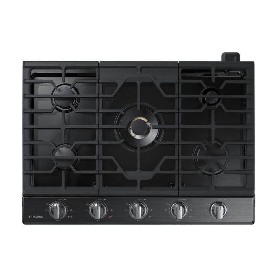 Samsung Premium Plus 36 In 5 Burners Black Stainless Steel Gas Cooktop Lowes Com Cooktop Gas Cooktop Black Stainless Steel