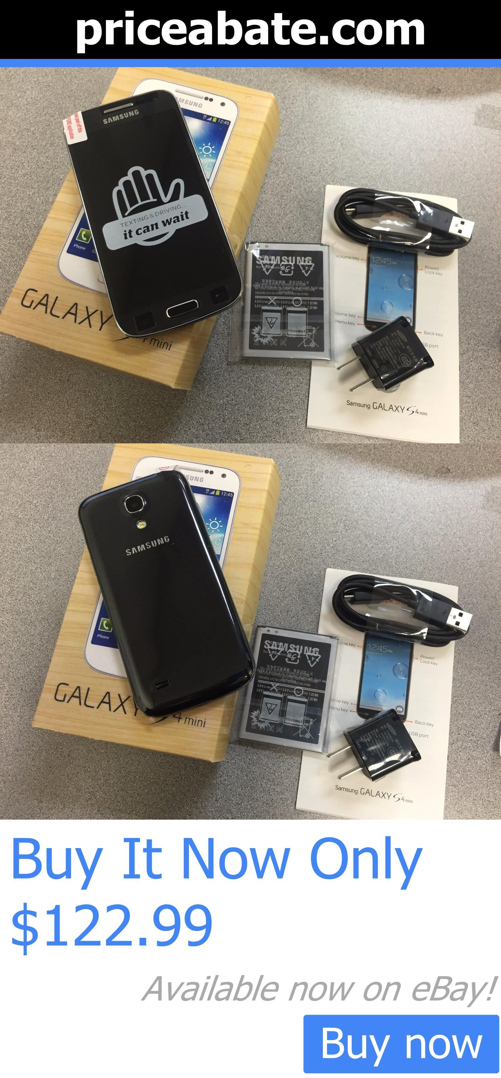 cell phones: New Inbox Samsung Galaxy S4 Mini Sgh-I257 16Gb Black (Atandt) Unlocked Lcd Shadow BUY IT NOW ONLY: $122.99 #priceabatecellphones OR #priceabate