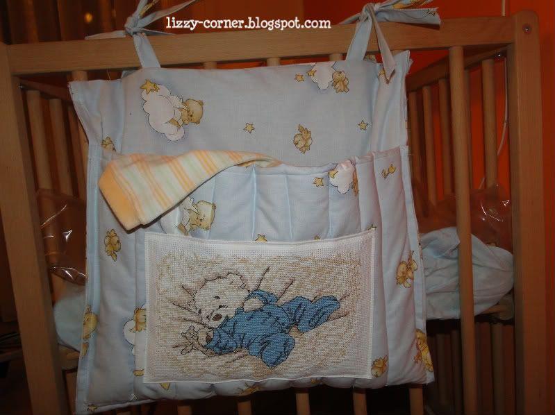 Cucito Bambini ~ Portapigiama con disegno in punto croce cucito puntocroce