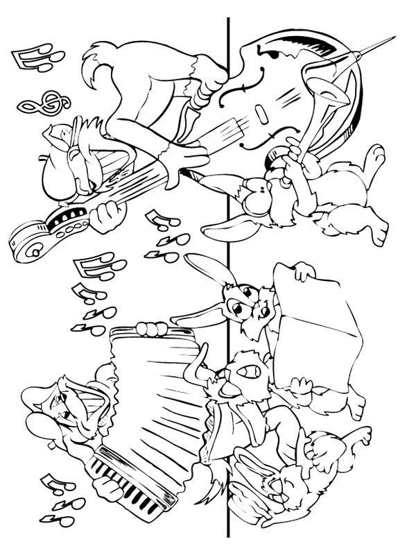 Paul Frank Kleurplaat 62 Coloring Pages Of Musical Instruments On Kids N Fun Co