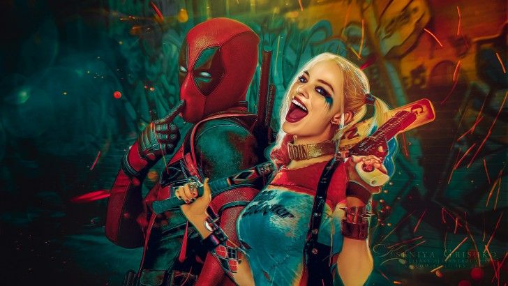 Download Deadpool And Harley Quinn Wallpaper By Veilaks Wallpapers