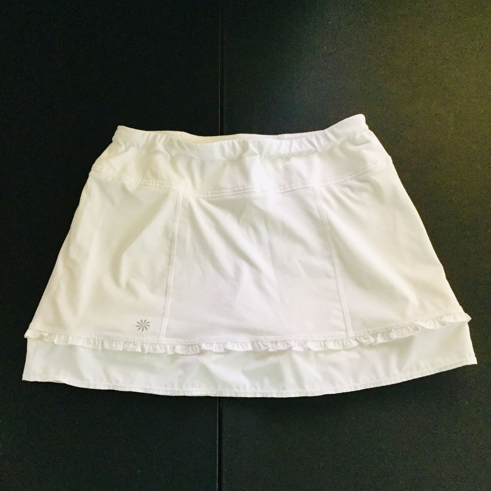 005442660f Athleta Skirt Skort built in shorts Womens XS white workout exercise  leisure #Athleta #ActivewearSkorts