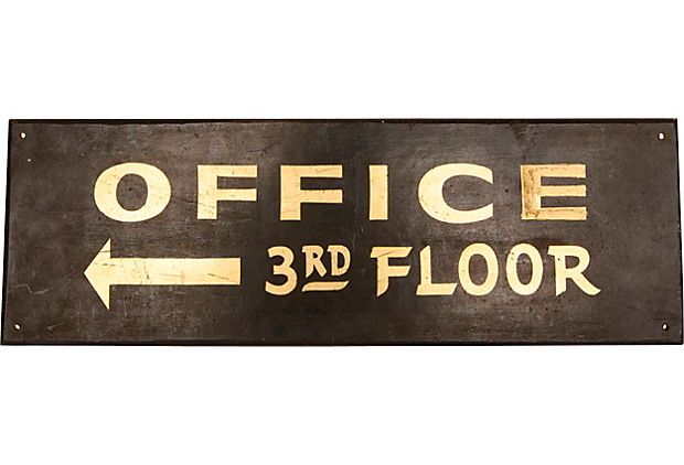 Vintage Office Sign   Can Almost Hear The Typing Pool Clacking Away.