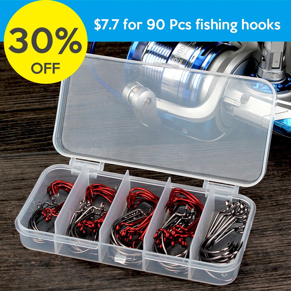 30 Off 90 Pcs Fishing Hooks Discount Code 30scotank2 Https