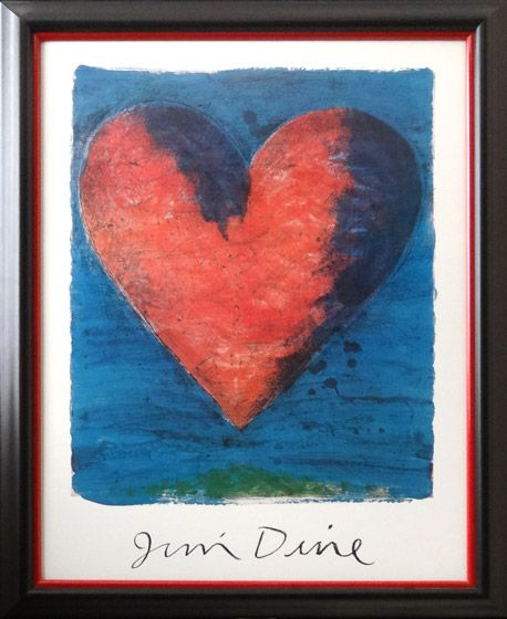 Heart Heart Poster Framed Art Art