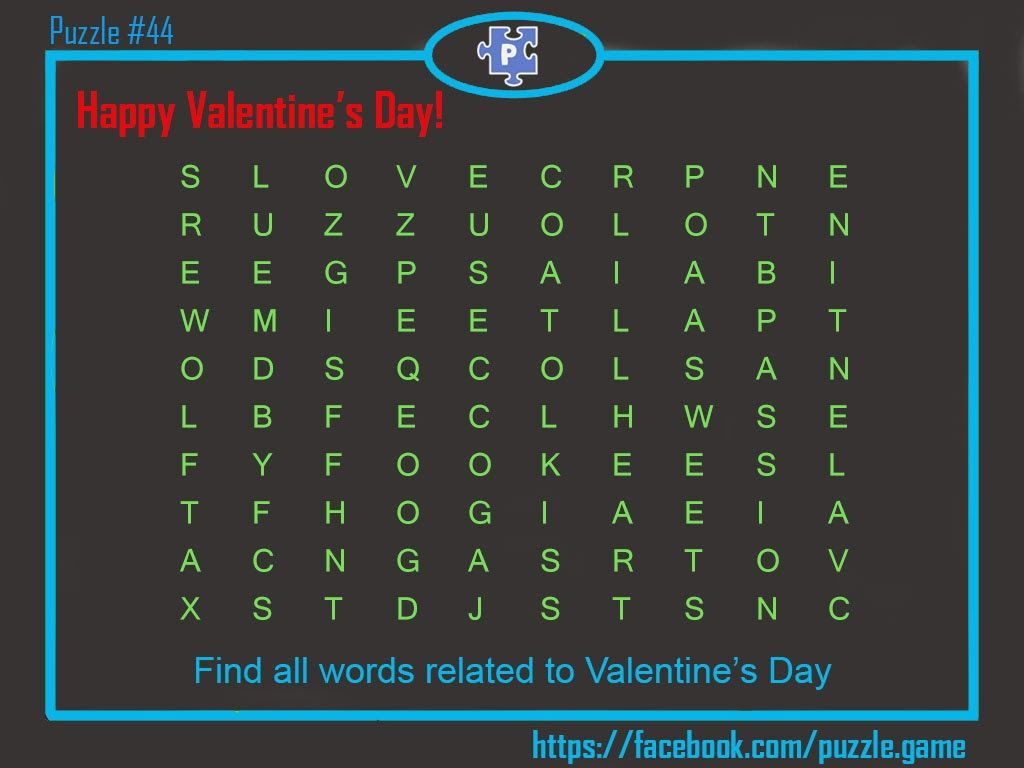 Valentine S Day Special Puzzle Must Solve One