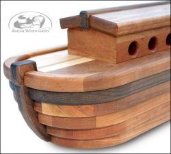 Handmade Noah's Ark - Beautiful!!