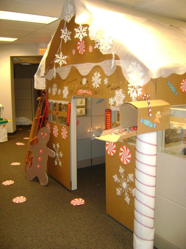 Gingerbread We Could Do This Is In My Office Christmas Cubicle Decorations Cubicle Decor Office Office Christmas Decorations