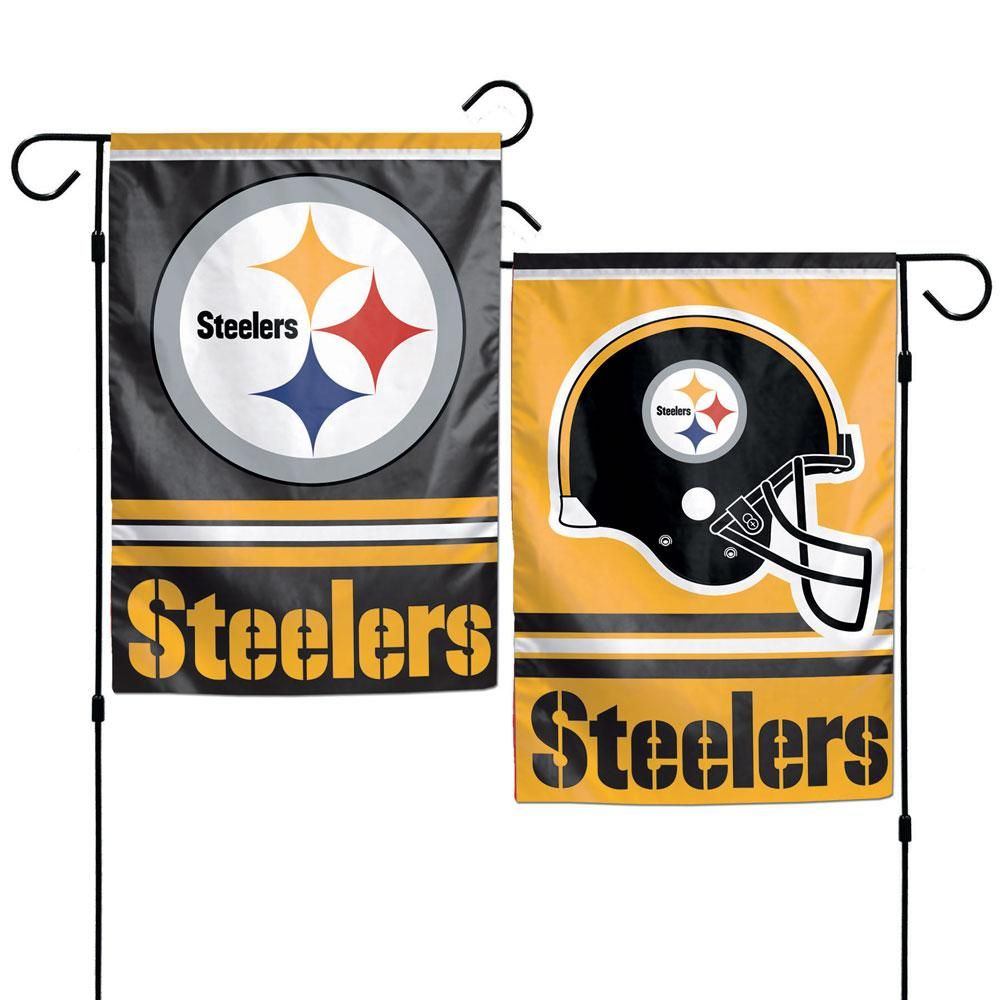 Pittsburgh Steelers Flag 12x18 Garden Style 2 Sided