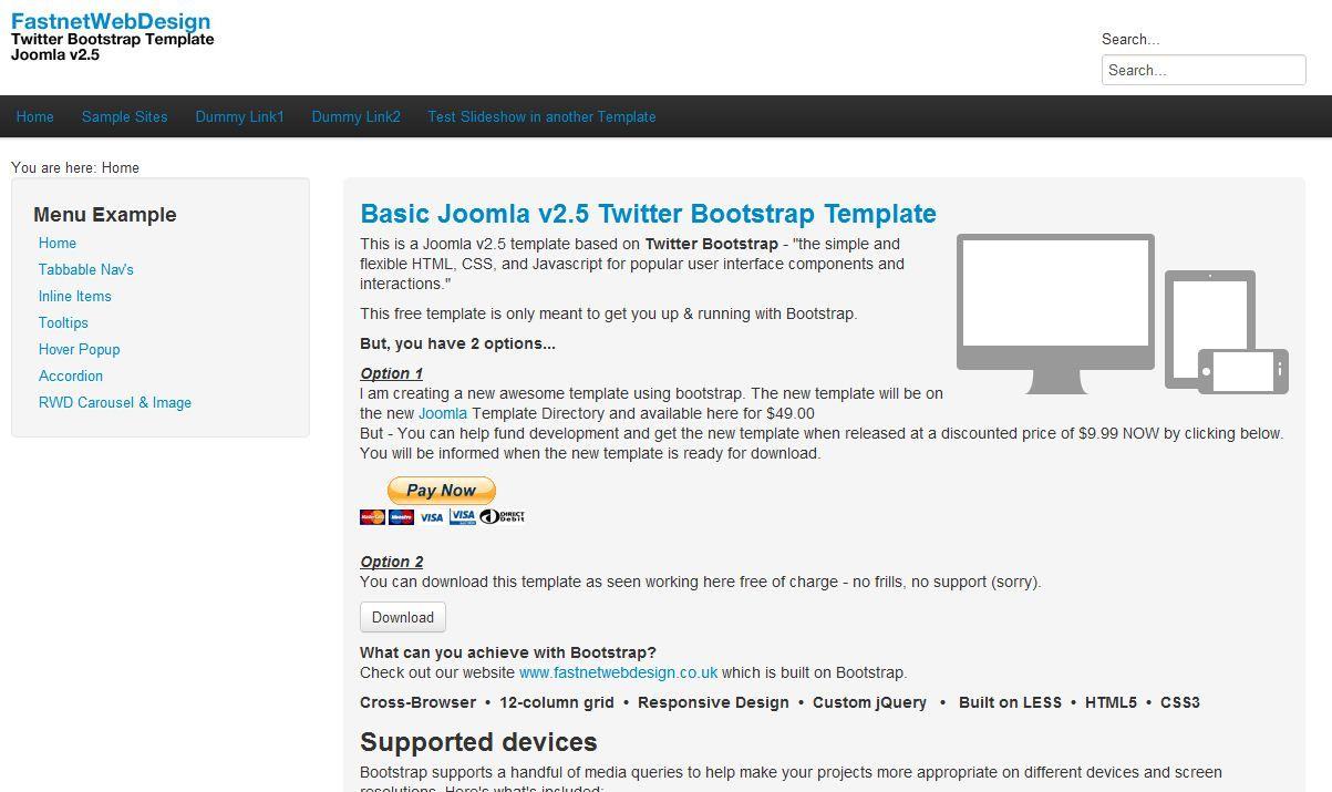 La plantilla gratis Bootstrap de Joomla fue creada por ...