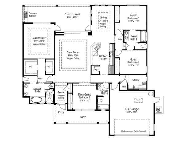 Country Style House Plan 4 Beds 3 Baths 2209 Sq Ft Plan 938 68 Mediterranean Style House Plans 2200 Sq Ft House Plans House Plans