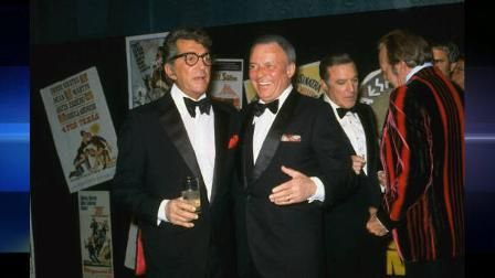 FILE--Dean Martin and Frank Sinatra are shown at the Friars Club in New York…