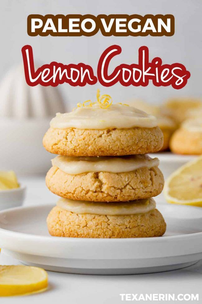 Paleo Lemon Cookies  These Vegan Lemon Cookies are paleo and super easy! These are perfect for when