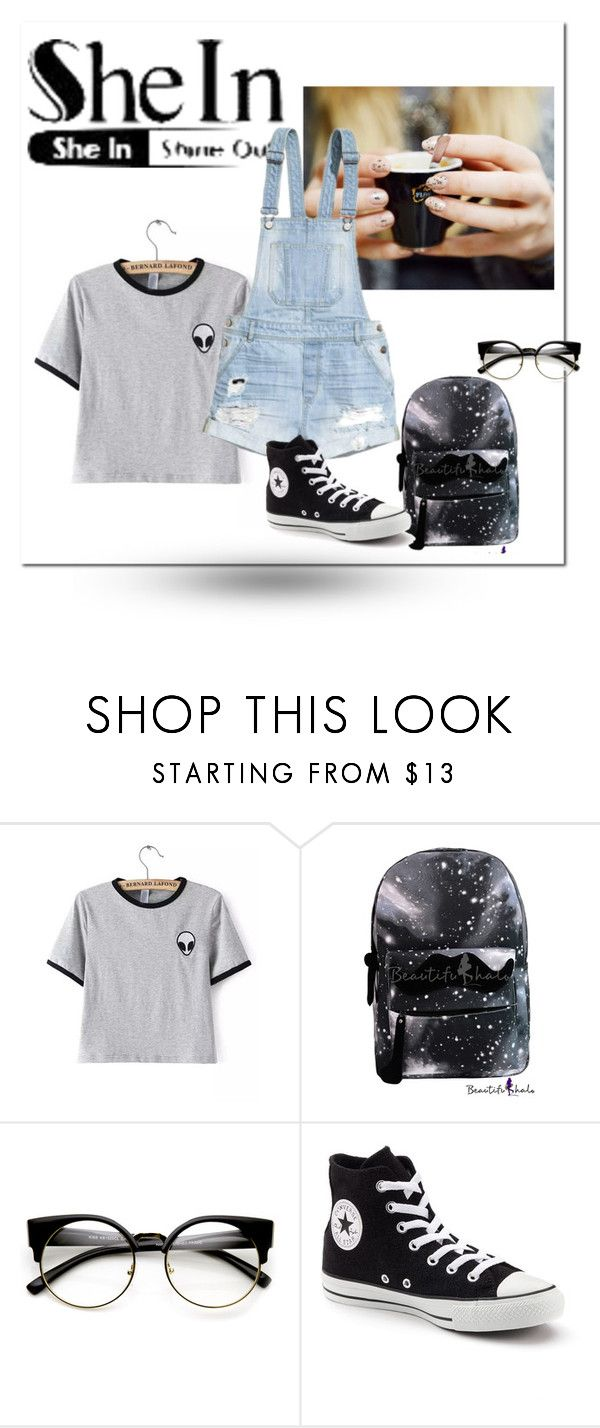 """Untitled #30"" by soivana ❤ liked on Polyvore featuring ZeroUV, H&M and Converse"