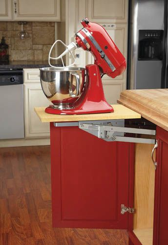 Rev A Shelf Ras Ml Hdcr With Design Flexibility In Mind The Heavy Duty Chrome Mixer Lift Can Be Attached To Any Custom Made And Therefore Will Fit