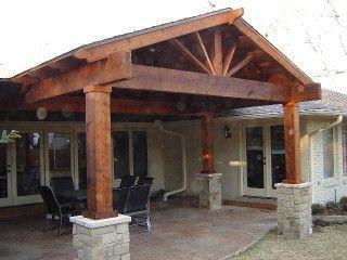 Cedar Patio Cover Idea Covered Patio Design Outdoor Covered