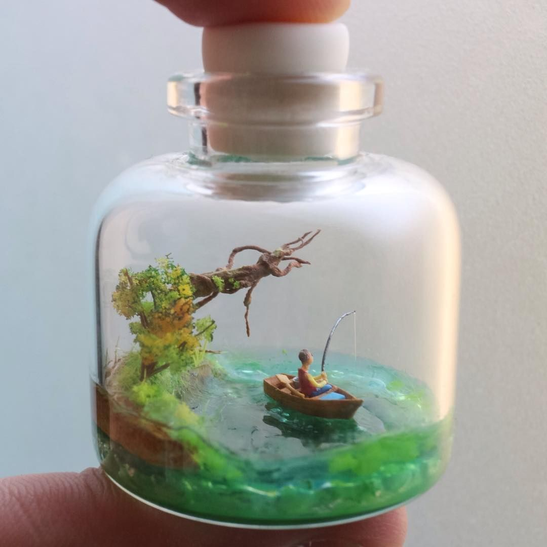 Publicación de Instagram de the world in a bottle o  Ago 29 2016 at 759 UTC The Effective Pictures We Offer You About Lake fishing tattoo A quality picture can tel...