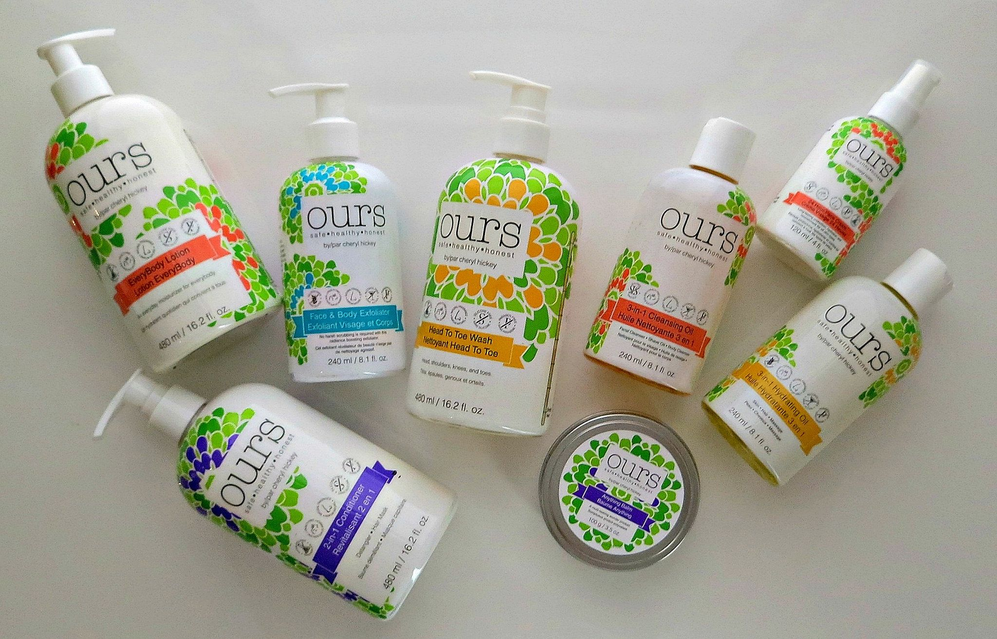Canadian Brand OURS by Cheryl Hickey Beauty review