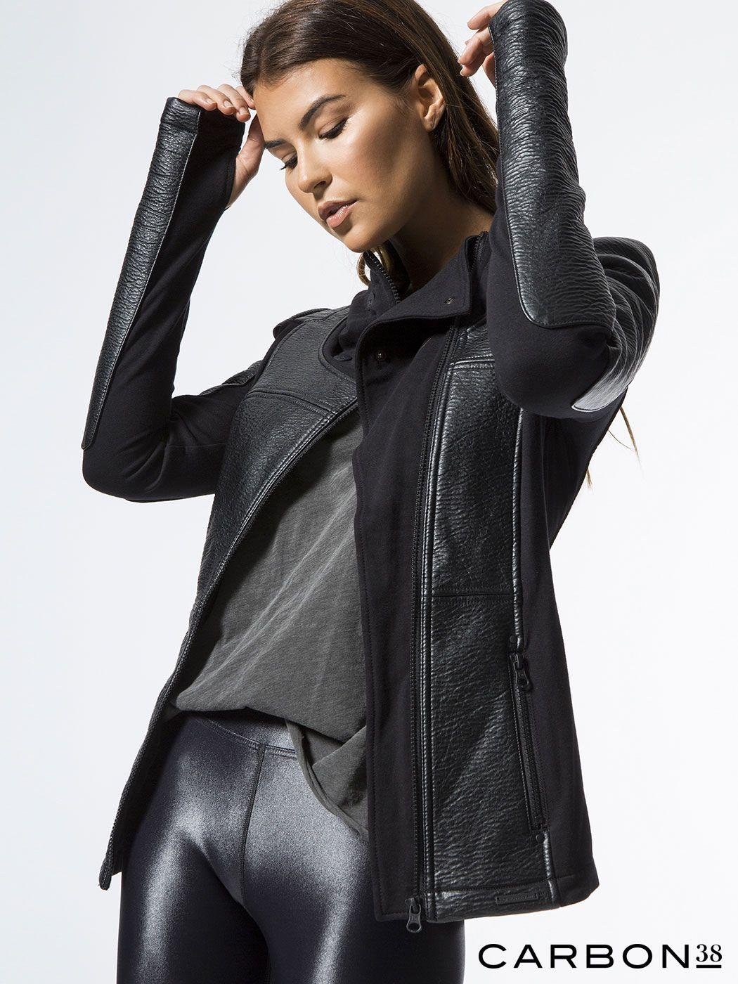 Blanc noir moto jacket black