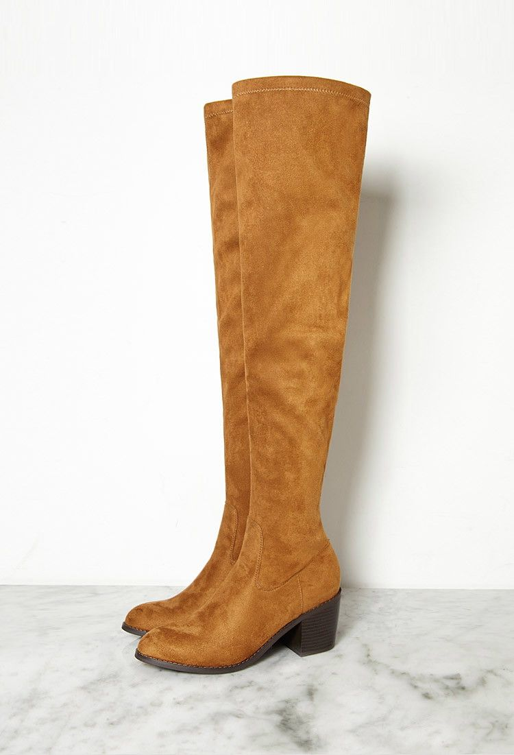 29f7ef8b61f Thigh-High Faux Suede Boots