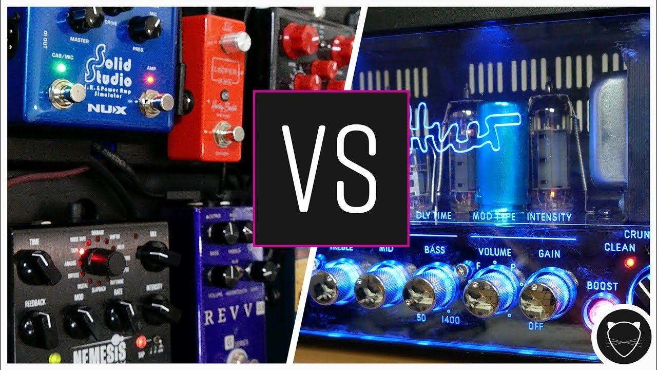 Catpick Studios Compares The Hughes Kettner Grandmeister Deluxe 40 Guitar Amp And Its Built In Fx With A Fully Stocked Pedalboard Pedalboard Guitar Amp Amp