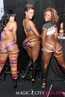 Black female gallery stripper
