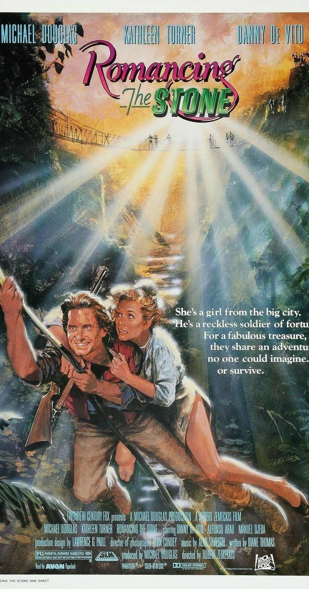 Pin by R. Young on Movie poster Romancing the stone