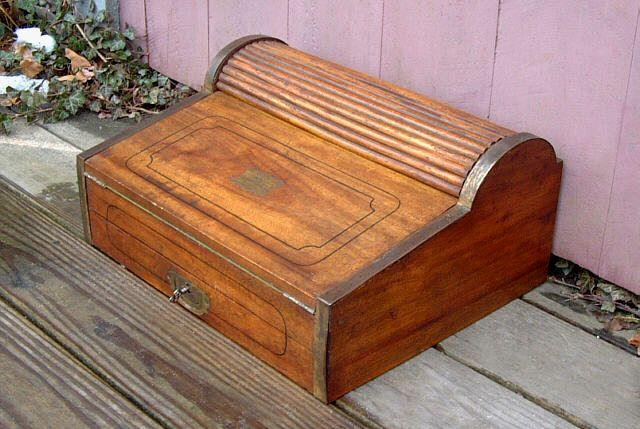 Antique nautical maritime lap roll top desk, circa 1820-1840. This is a - Antique Nautical Maritime Lap Roll Top Desk, Circa 1820-1840. This