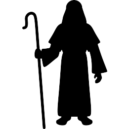 Shepherd Silhouette | Good Shepherd | Sheep silhouette