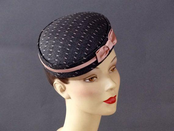 Tweed Mini Pillbox Hat