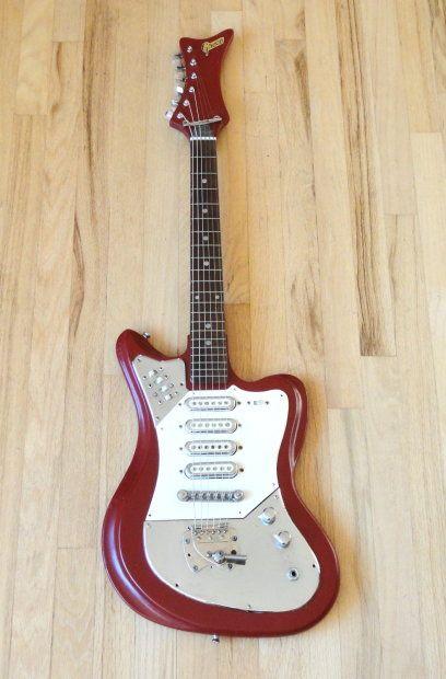 Greco 912 1960s Red1960s Greco Model 912 Offset Four Pickup Vintage Guitar Japan Fujigen Ge 4 Mike Mike S Guitar Bar Reverb Guitar Electric Guitar Vintage Guitars