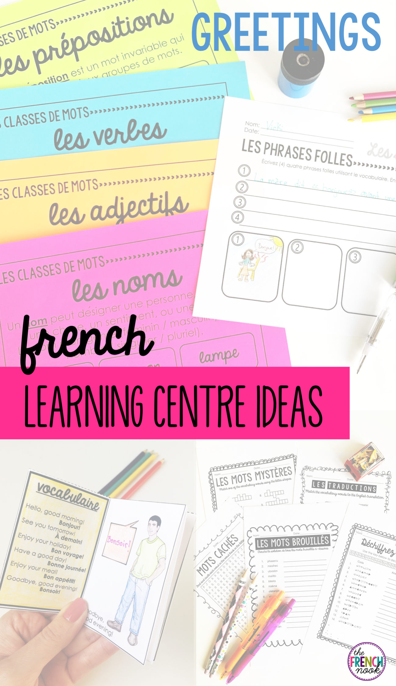 Les Salutations French Greetings Vocabulary Les Phrases