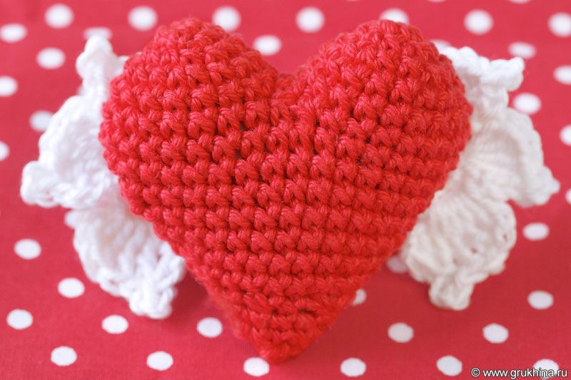 Схемы вязания крючком сердечек с описанием 20