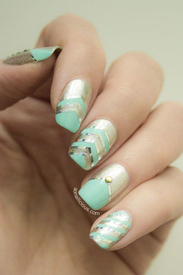 Party Nails Tutorial | Diseños de uñas, Manicuras y Disenos