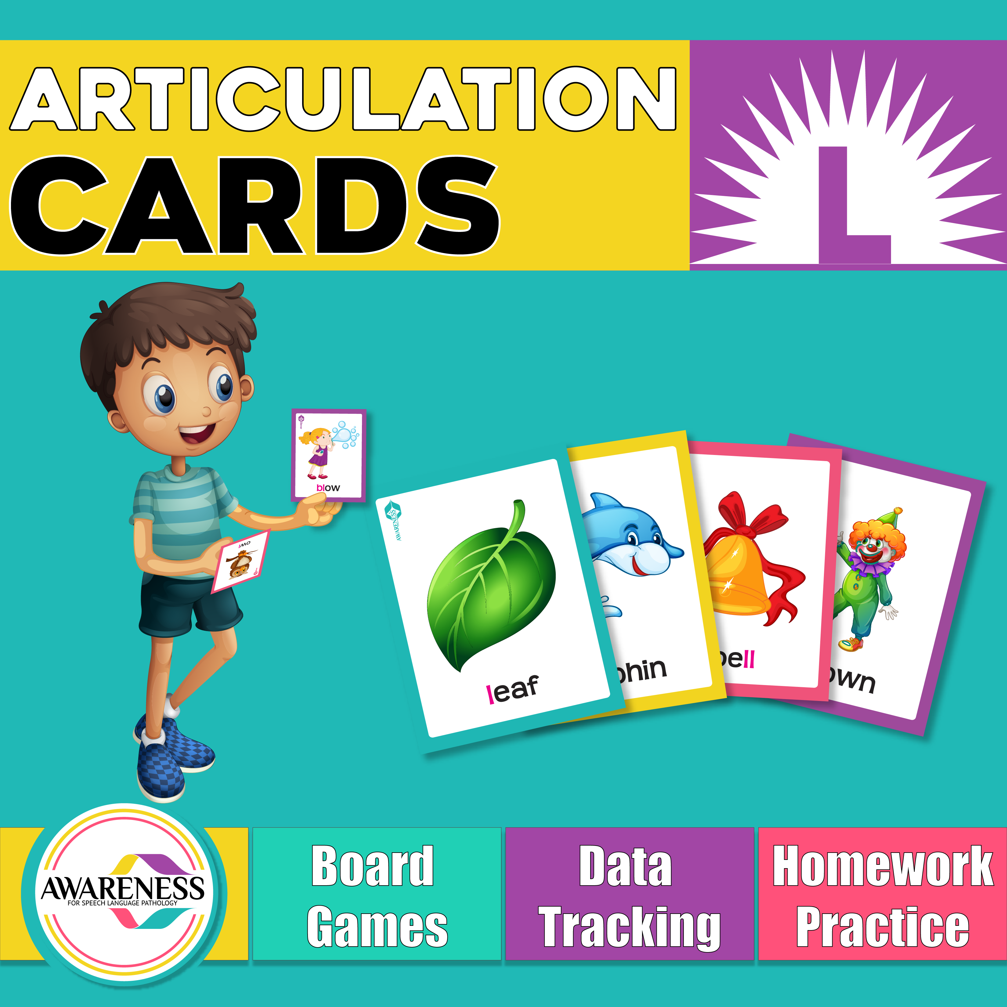 L Articulation Cards And Worksheets For Speech Therapy
