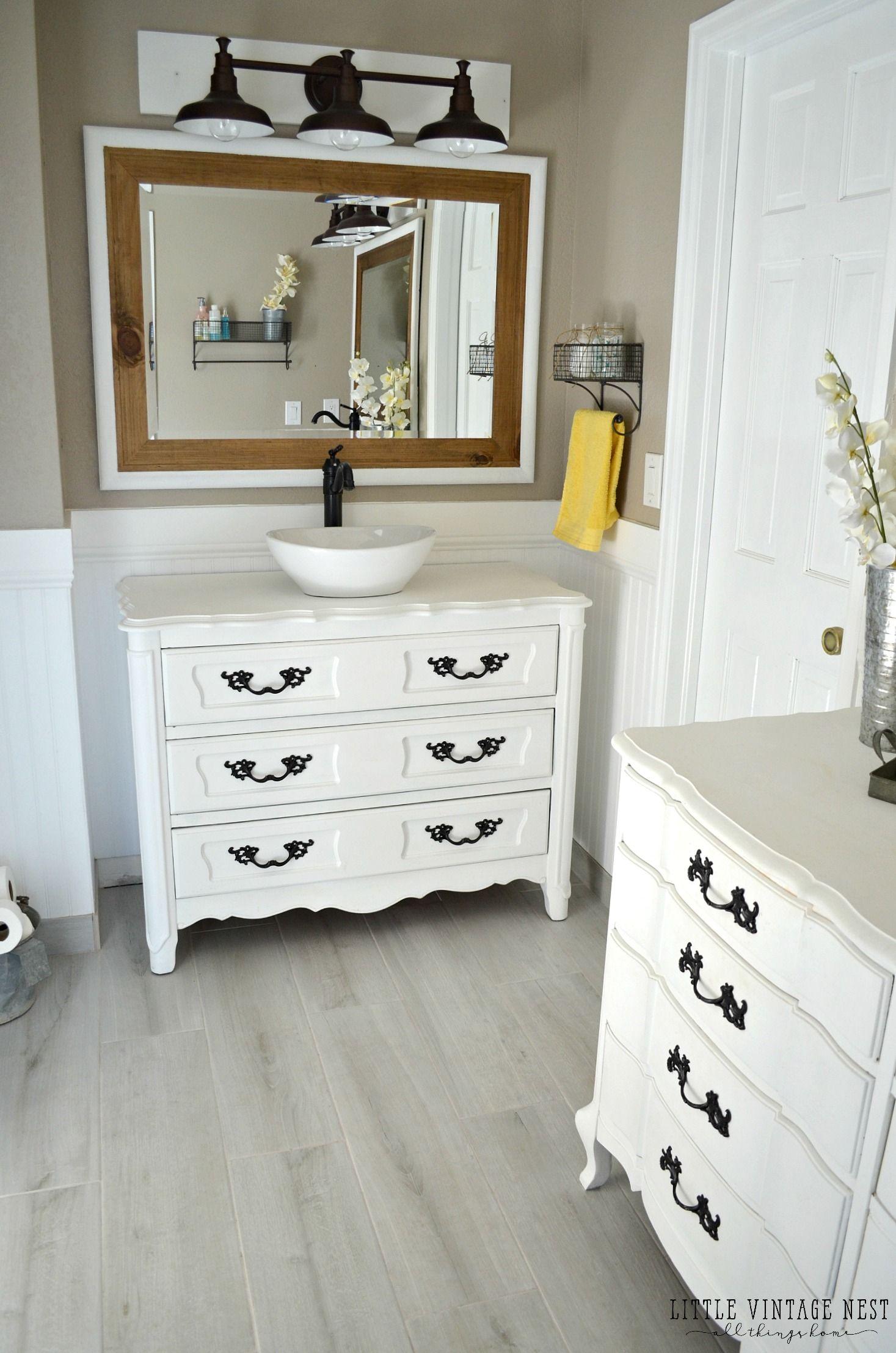 Etonnant Step By Step Tutorial To Turn An Old Dresser Into Bathroom Vanity More