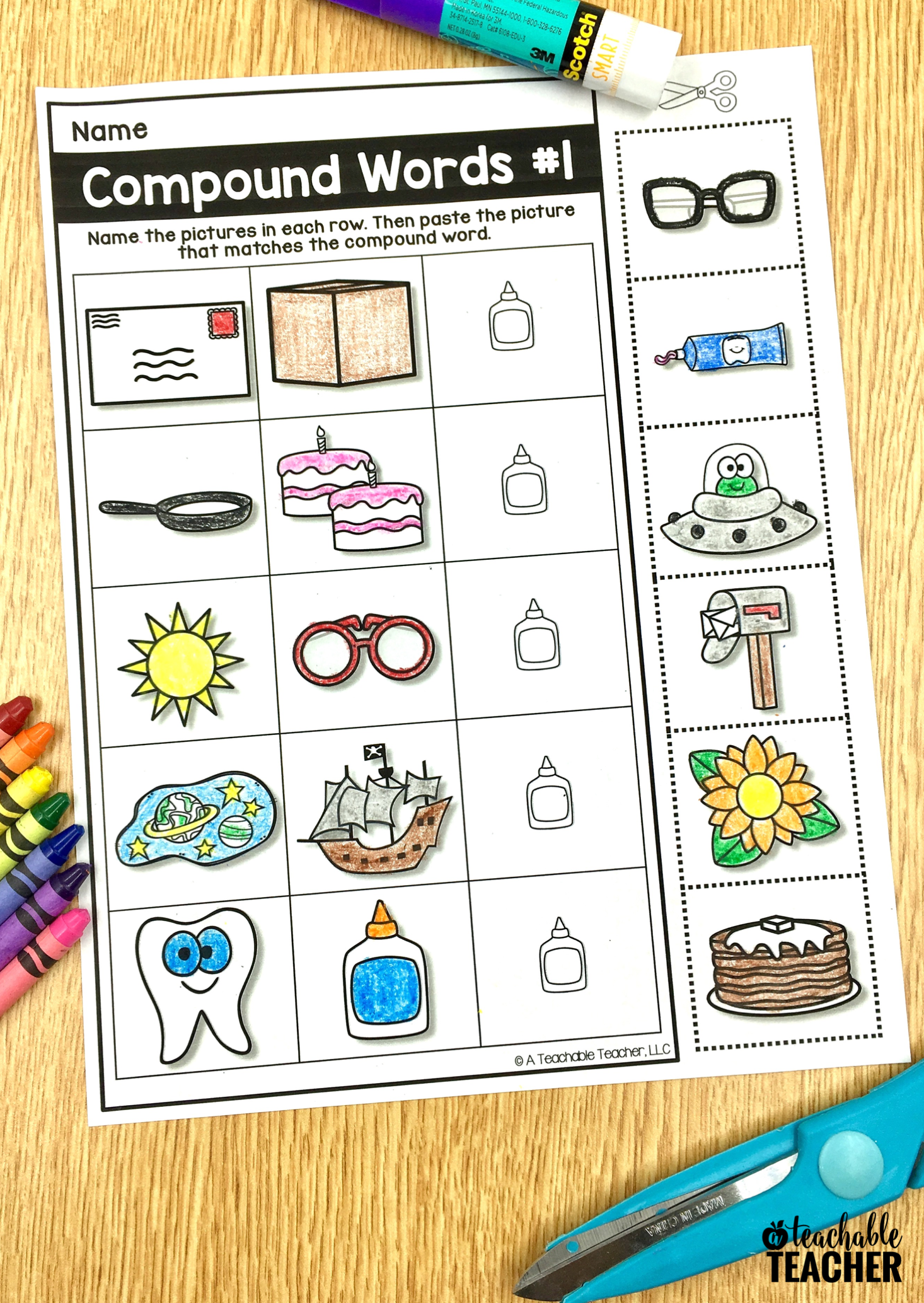 Free Phonemic Awareness Worksheets Interactive And Picture Based Compound Words Phonemic Awareness Activities Compound Words Activities [ 2067 x 1466 Pixel ]